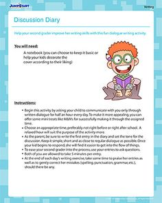 Discussion Diary - Free Writing Activity for 2nd Grade