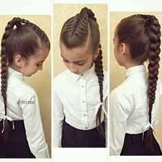 Hairstyle Ideas for Girls Going from School To Make Your Children Confident - Today Pin Lil Girl Hairstyles, Pretty Hairstyles, Braided Hairstyles, Hairstyle Ideas, Hairstyles 2016, Girl Hair Dos, Hair Due, Toddler Hair, Hair Looks