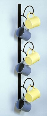 Wrought Iron Cup Racks - Vertical Mug Tree Made by Cast Iron. Rack features a solid black, powder coated surface and is tall. Hooks extend 6 The perfect way to add a little flair to the breakfast nook or kitchen wall! Coffee Mug Holder, Coffee Cups, Coffee Shop, Coffee Maker, Drink Coffee, Espresso Cups, Mug Tree, Mug Rack, Home Coffee Stations