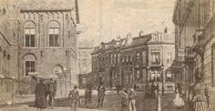 Smetiusstraat met links de gezellenvereniging Sint-Joseph, nu het Kolpinghuis. Foto uit circa 1900.