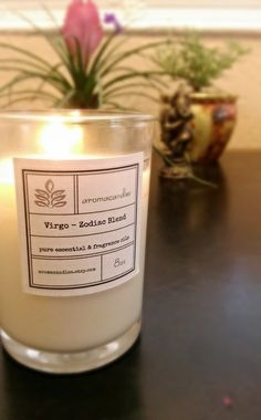 Virgo Zodiac Soy Candle  Created for the by aromacandles on Etsy