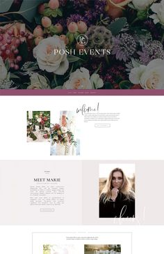 Posh Wordpress Divi website template for event professionals—bold and modern, unique and polished. Customization included. Blog Post Template, Website Template, Keynote, Wordpress, Branding, Templates, Unique, Creative, Modern