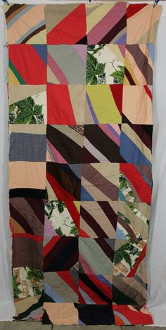 African American 1950s patchwork quilt.
