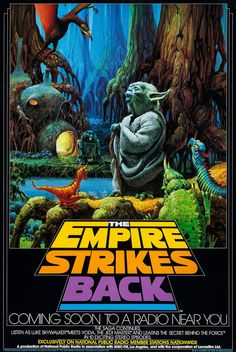 Poster for National Public Radio's adaptation of The Empire Strikes Back - art by Ralph McQuarrie, ca. 1982