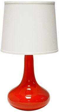 George Kovacs Hansen Red Table Lamp   Style # 8K746 | Red Table Lamp,  Contemporary And Contemporary Table Lamps
