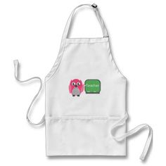 Pink Owl At Chalkboard Apron by The Pink Schoolhouse Bbq Apron, Chef Apron, Grill Apron, Apron Diy, Kiss The Cook Apron, Funny Aprons, Baking Apron, Aprons For Men, Apron Designs