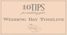 wedding day timeline tips from oh lovely day #wedding #timeline #tips #planning #weddingday