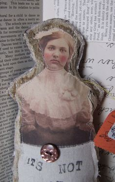 HANDMADE Quote DOLL made by Jenny Elkins.
