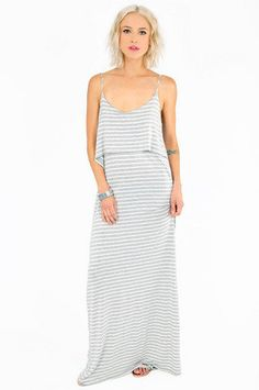 Tier Stripe Maxi Dress $37