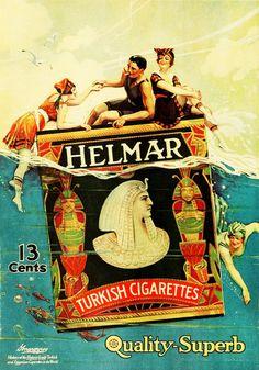 zombienormal:  Helmar cigarettes ad, 1918. Via Captain Geoffrey Spaulding.