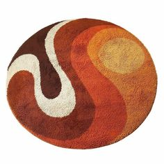 """don't get lost in the sauce on Twitter: """"these rugs… """" Funky Rugs, Cool Rugs, Casa Retro, 70s Home Decor, 1970s Decor, High Pile Rug, Latch Hook Rugs, Circle Rug, Patterned Carpet"""