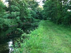 A stretch of the Morris Canal remains in Boonton