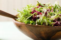 Frisée, Radicchio, and Fennel Salad with Mustard Vinaigrette / Lara Ferroni