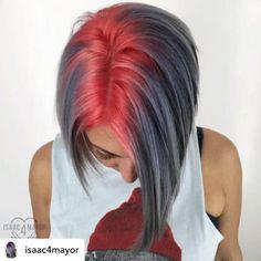Isaac roberts kurze frisuren hair hair styles,edgy hair j Ice Hair, Corte Y Color, Christmas Hair, Cool Hair Color, Edgy Hair Colors, Fire Hair Color, Bright Hair Colors, Colours, Unique Hairstyles