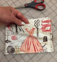 My new Ultimate carry all bag is made of this lovely fabric with vintage dress, mannequin, old style spools and scissors, thimbles a. Diy Bag Organiser, Bag Organization, Pet Sling, Civil War Quilts, Landscape Quilts, Carry All Bag, Cute Little Things, Bag Patterns, Scrappy Quilts