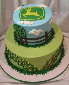 John Deere themed birthday cake