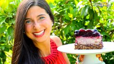 Raw Vegan Cherry Cheesecake! Low-fat, dairy free, chemical free, and delicious! Made with nature's sweetness, this healthy dessert is delectable and divine! Ready for a slice?! Let's put the cherry...on top!