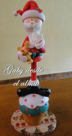 Papai Noel no Cupcake