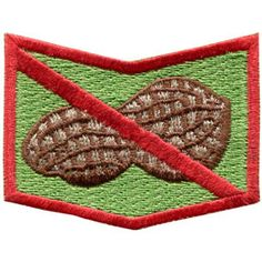 Allergy patches Sew or Iron On - peanut, nuts, dairy, eggs, fish, shellfish, wheat, - attach to jackets, clothing or backpacks