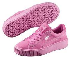 36304c1b6a58 Puma Women s Basket Platform Reset Sneaker. Pink Puma Suede