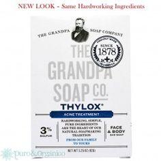 Grandpa's, Face & Body Bar Soap, Thylox Acne oz g) - Acne Treatment Skin Care Regimen, Skin Care Tips, Savon Soap, Natural Acne Remedies, Pimples Remedies, Foundation Colors, Body Bars, Acne Free, Beauty