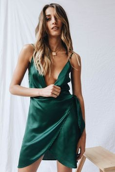 Guest Edit Wrap Front Mini Dress