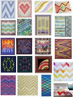 FREE PATTERN Archive, Bargello quilts