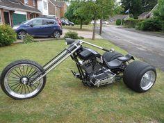 Custom Trikes, Custom Motorcycles, Custom Harleys, Harley Davidson Engines, Harley Davidson Trike, Vw Trike, Tricycle Motorcycle, Old School Chopper, Cars Motorcycles