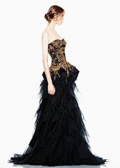 Black frothy dress
