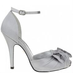 92062d7f612fa Royal Silver Ella By Nina Bridal Shoes http   www.bellissimabridalshoes.com