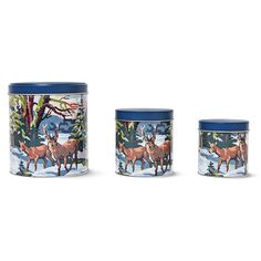 TINS WITH DEER PATTERN
