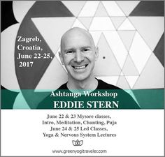 """""""There are still some places left for our workshop with the unique New York yogi Eddie Stern @eddiestern. Eddie is one of the teachers who turned his life into an incredible yogic journey dedicated to in-depth understanding of the Ashtanga system as well learning, honoring and worshiping of Hinduistic spiritual lore that lies in the background of the discipline itself. His Zagreb workshop will focus on the spirituality of yoga, including captivating ritual elements. That is why we strongly…"""