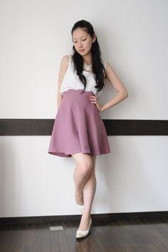 scallop waist skirt pattern