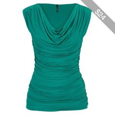 maurices Drape Neck Sleeveless Top