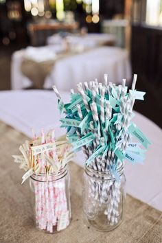 straws for the reception