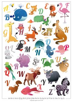 alphabet...crazy how in different languages they have different animals for their alphabet letters...never really considered that....