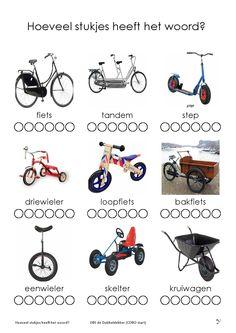 Hoeveel woordstukjes heeft het woord? Learn Dutch, Coding For Kids, Kindergarten Math Worksheets, Letter F, Transportation, Infant, Education, Learning, Children