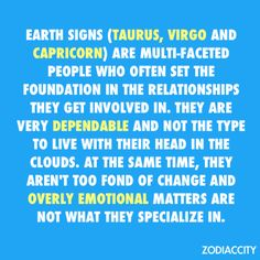 Earth signs Taurus, Virgo and Capricorn Jupiter In Libra, Neptune In Scorpio, Venus In Gemini, Sun In Taurus, Capricorn Traits, Capricorn And Aquarius, Taurus Horoscope, Virgo Men, Zodiac City
