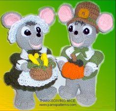 PDF Thanksgiving Mice Crochet Patterns crochet von pamspatterns