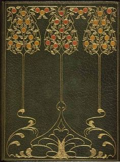 vintage book cover art nouveau,  Would like to invert the design on the bottom of this page and use it was the design for a necklace.