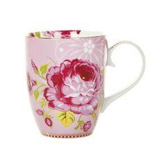 Discover the Pip Studio Big Flower Large Mug - Pink at Amara