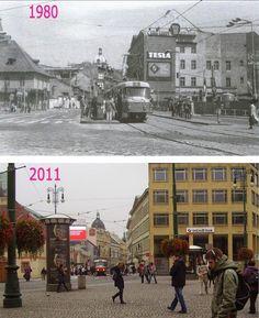 Praha v proměnách času VI. Prague Photos, Beautiful Places To Travel, Rotterdam, Czech Republic, Time Travel, Old Photos, Street View, Ulice, Pictures