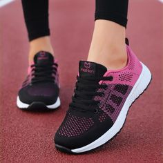2019 New Women Shoes Flats Fashion Casual Ladies Shoes Woman Lace Up Mesh Breathable Female Sneakers Zapatillas Mujer-in Women's Vulcanize Shoes from Shoes on AliExpress Tenis Casual, Casual Sneakers, Casual Shoes, Sneakers Women, Women's Casual, Cool Womens Sneakers, Loafers Women, Winter Sneakers, Womens Flats