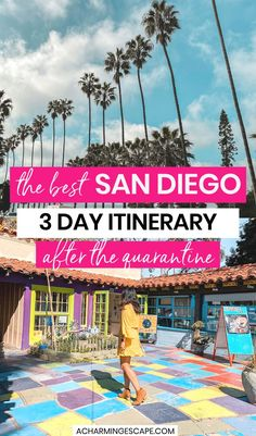 The Best San Diego 3 Day Itinerary (after the quarantine!) The best things to do in San Diego when you only have a long weekend. San Diego Vacation, San Diego Travel, San Diego Trip, Usa Travel Guide, Travel Usa, Travel Advice, Travel Tips, Visit San Diego, West Coast Road Trip
