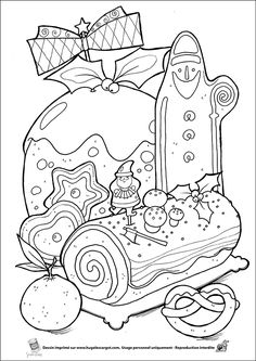 Coloriage Christmas desserts