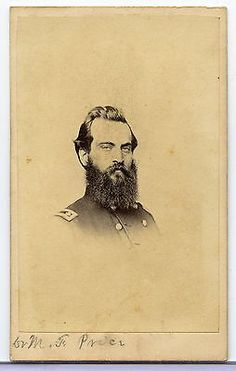 CDV Photograph Civil War Soldier. Identified as Dr. M. F. Price. Photographers backmark Edward P. Hipple Philadelphia.