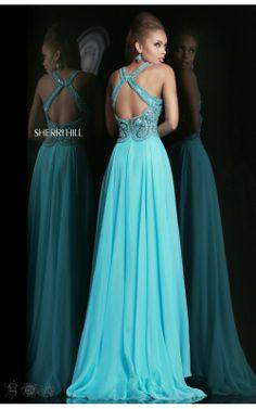 Jeweled Blue Prom Dress Sherri Hill 11102