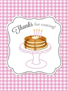 Pancakes & Pajamas Personalized Printable Party Favor Labels