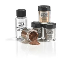 Metallic Powder Set with mixing liquid body face costume theatrical FX Mehron TV #Mehron