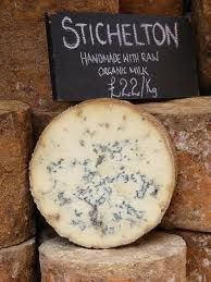 Stichelton is an English blue cheese. It is similar to Blue Stilton cheese, except that it does not use pasteurised milk or factory-produced Randolph Hodgson of Neal's Yard Dairy and Americ (Cheese Making Factory) Stilton Cheese, Fromage Cheese, Charcuterie Cheese, Cheese Platters, Gouda, Feta, Yorkshire, English Cheese, My Favorite Food